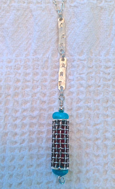 I AM ART with Ruby and Turquoise Pendant