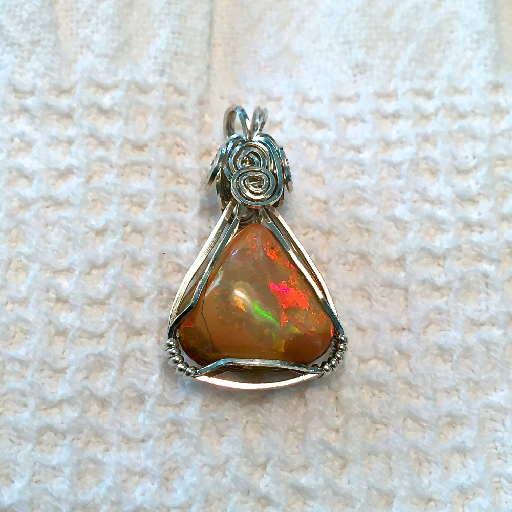 WELO Chocolate Opal Pendant Set in Argentium Silver-Etsy2